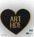 Pin en forma de corazón modificado para requisitos particulares de la solapa del esmalte suave del metal para el regalo de boda (bd-06)