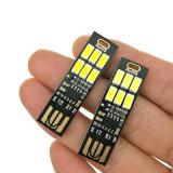 6 LED-weißer warmer Beleuchtung-Noten-Schalter-Steuerjustierbarer Tisch USB-helle Lampe 1W für Aufladeeinheits-TischplattenNotebook-Computer-Energien-Bank des Handy-5V