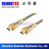 Conetor da placa de ouro do cabo HD1080p 24k de HDMI