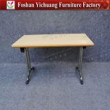 Нержавеющая сталь с белой прямоугольной подвижной и складывая таблицы конференции 20 персон самомоднейшей для обедать (YC-T188-05)