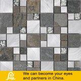 Metal aplicado con brocha mezcla de piedra con el mosaico del vidrio cristalino