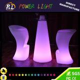 Tabourets de barre en plastique rechargeables lumineux