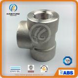 Тройник равного сварки гнезда давления ASME B16.11 выкованный нержавеющей сталью высокий (KT0525)