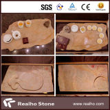 Carving Quarty Beige Marble Carving for Project
