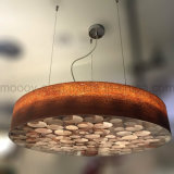 Het Werk van de Schijf van Handcraft het Cirkel Houten LEIDENE van de Honingraat Licht van de Tegenhanger