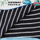 Striped Jersey gestricktes Denim-Gewebe des Indigo-145GSM Baumwolle 100%