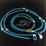 La cuffia del MP3 del telefono in perla del diamante dell'orecchio borda i trasduttori auricolari della collana delle coppie con le ragazze Earbuds del regalo di modo del Mic