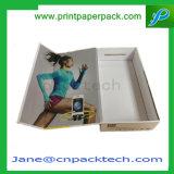 Коробка подарка коробок изготовленный на заказ наушника коробки складчатости бумаги с покрытием передвижная упаковывая магнитная с ISO9001