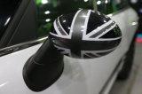 真新しいABS小型たる製造人R56-R61のための高品質ミラーカバーとのプラスチック紫外線保護されたスポーティで黒い英国国旗様式カラー