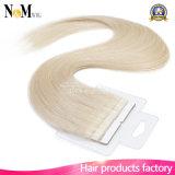 Лента в выдвижениях волос Remy девственницы человеческих волос Remy бразильских прямых на волос 16 слипчивой кожи Weft 18 20 22 дюймов 18k#