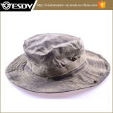 Chapéu militar do pescador de Camo com o chapéu de acampamento da caça de Sun da borda larga