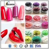 Colorantes cosméticos multicolores de la perla de los polvos de mica en bálsamo de labio