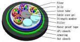 Câble de fibre optique blindé d'enterrement direct desserré central du tube Gysta53