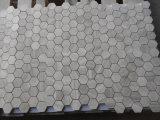 Mosaico bianco del marmo di esagono del nuovo bello legname