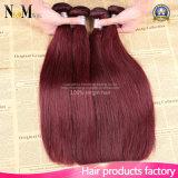 Paypalの卸売価格を10インチの部分のバーガンディのブラジルの毛の織り方受け入れなさい