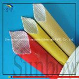 カラーPolyurthaneのこはく色樹脂の上塗を施してあるガラス繊維の袖