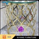 新しいデザイン中国の工場によって映されるガラスコーヒーテーブル