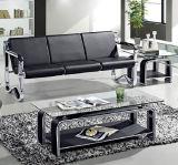 Sofa public 208# d'éponge de présidence de sofa de bureau de bonne qualité de modèle simple en stock 1+1+3