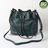 New Classic Euramerican Style Fringe Bucket Crossbody Bags Senhora Genuine Leather Shoulder Bag Bolsa Emg4940
