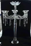Кристаллический держатель для свечи с 7 плакатами для украшения венчания
