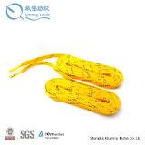 Color de rosa de encargo que sube los cordones redondos populares de las zapatillas de deporte - cordones regulares coloridos del cargador del programa inicial de la cuerda - cordón patinador para
