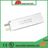 Bateria do polímero do lítio do Ce UL2000mAh 3.7V 1c dos produtos electrónicos de consumo