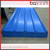 Telhado ondulado revestido do metal de folha da cor da prova de calor para materiais de construção