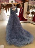 Линия образец платья венчания чувствительного высокого качества голубой реальный