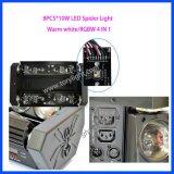 Caliente LED de luz de la araña 8PCS * 10W RGBW Luz