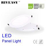 12W el panel ligero redondo del acrílico LED con la luz del panel de Ce&RoHS LED