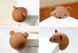 Decorativo Animal Bear Shape Baby Protection Silicone Sharp Table Corner Edge Protector