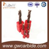Moinho de extremidade do carboneto de tungstênio de 3 flautas para Aluminuim