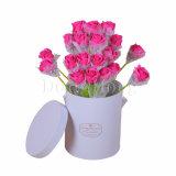 Rectángulo redondo rígido al por mayor del sombrero del tubo para el empaquetado de las flores