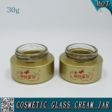 30ml Crème de verre glacée à base de verres Crème de visage vide Gâteaux en verre