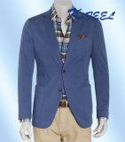 Blazer clássico do azul do algodão de 2016 homens quentes
