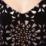 Il merletto della cavità del V-Collo delle donne di modo due parti ha impostato la camicetta della maglia