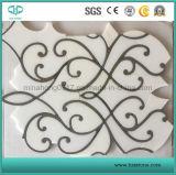 Mosaico de mármol blanco, mosaico de mármol, mosaico de piedra