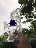 상한 Klein Recycler 유리제 연기가 나는 관 5 색깔 유리제 한덩어리 석유 굴착 장치