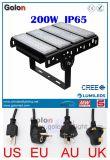 UE de aluminio de la cubierta de la buena aleta modular del precio del surtidor de China nosotros luz de inundación de Reino Unido 200W LED del Au con el enchufe