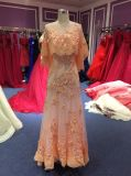Vestido de noite coral da bainha para Wedding com envoltórios
