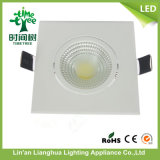 5W 7W COB aluminio blanco cálido LED Downlight