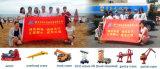 Guindaste montado de China Dongfeng 4X2 do crescimento caminhão hidráulico para o carregamento
