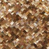 Azulejo de mosaico del shell 10*20m m del pingüino del shell de la fregona del labio de Brown