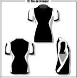Butoir impétueux de compactage de chemises de sublimation chemise faite sur commande de circuit de longue