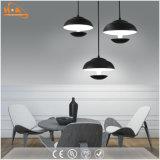 Moderne weiße hängende Lampe des Schwarz-LED für Innenbeleuchtung