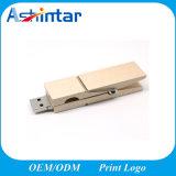 Disco de madera del USB del clip de Sitck Pendrive de la memoria del USB