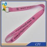 Preiswerteste einfache rosafarbene Schlüsselhalter-Abzuglinie mit Schlüsselring