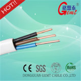 Alambre plano de cobre aislado PVC verdadero del cable eléctrico del cable plano del CCA del cable plano de la fábrica
