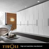 白く高いワードローブの木の戸棚のワードローブの挿入Tivo-0060hw
