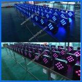 Disco LED helle DMX 512 NENNWERT 9PCS drahtlose flache Beleuchtung